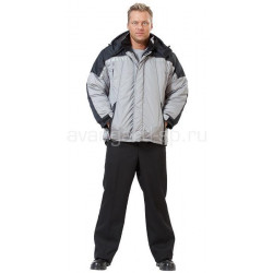 Куртка утепленная Премьер цвет серый+черный