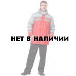 Куртка Байкал, ткань Дюспа цвет красный+серый