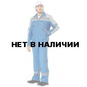 Костюм Карат Плюс с полукомбинезоном, ткань смесовая (светло-васильковый+светло-серый+СОП) (распродажа)
