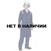 Халат мужской Авангард, ткань смесовая (син.+красн.)