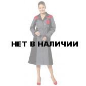 Халат женский Виват, ткань смесовая (серый+черн.+красн.)