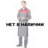 Халат мужской Виват, ткань смесовая (серый+черн.+красн.)