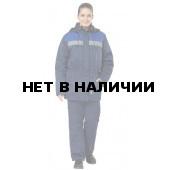 Куртка Бригада женская утепленная (темно-синяя+вас.)