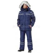 Костюм Аляска куртка+брюки (темно-синий+оранжевый)