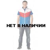 Жилет утепленный Алтай муж. бел.+кр.+вас.