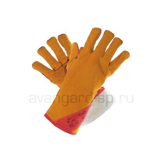 Краги спилковые пятипалые утепленные «Сибирь»