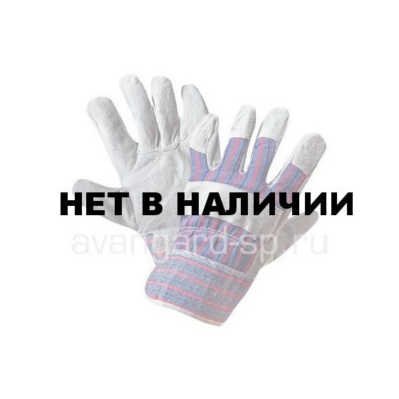 Перчатки АНГАРА спилковые комбинированные утепленные
