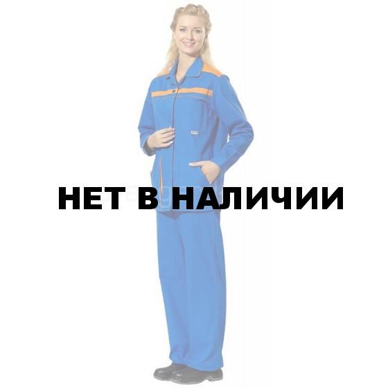 Костюм женский Высота, ткань саржа (василек+оранж.) РАСПРОДАЖА