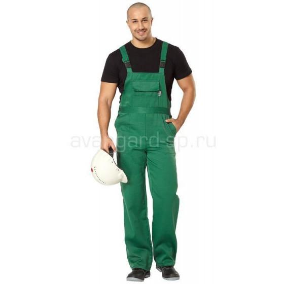 Полукомбинезон Профессионал зеленый (ткань смесовая)