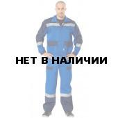 Костюм Спец с полукомбинезоном (ткань смесовая) васильковый+синий