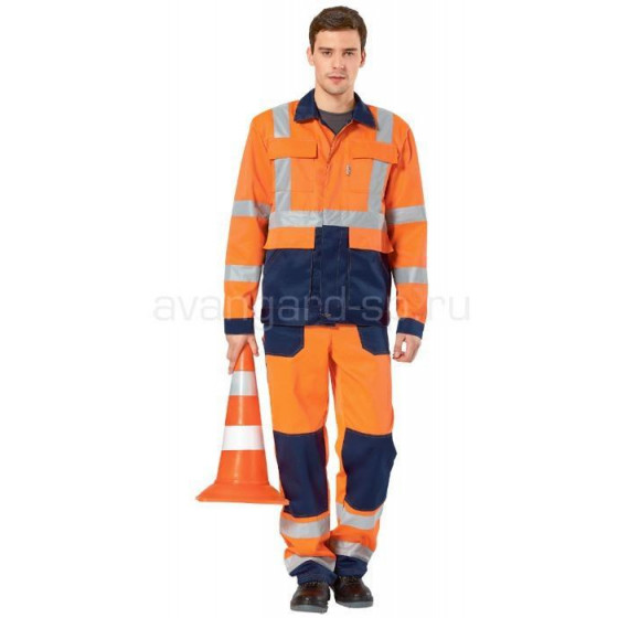 Костюм дорожника Альянс с полукомбинезоном (оранж+син)