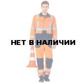Костюм дорожника Альянс с полукомбинезоном (оранжевый+синий)
