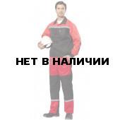Костюм Пульс брючн. с СОП (черн+красн), ткань смес