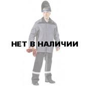 Костюм сварщика Фаервол утепленный (серый+черный) РАСПРОДАЖА