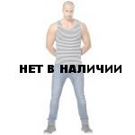 Майка-тельняшка (полоска синяя) х/б (Россия)