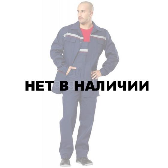 Костюм Профессионал (темно-синий с СОП+кр.кант) (ткань саржа)