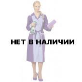 Халат женский Лаванда (цвет фиолет.+ св.сирен. с белой отделкой)