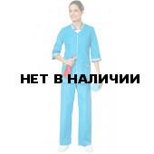 Костюм женский Лазурит (цв. ярко-голуб. со св.серой отд.)