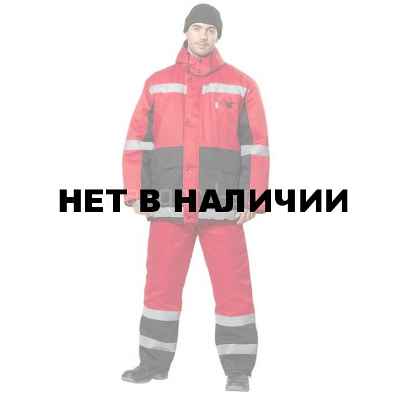 Костюм Метеор, ткань смесовая красный+черный