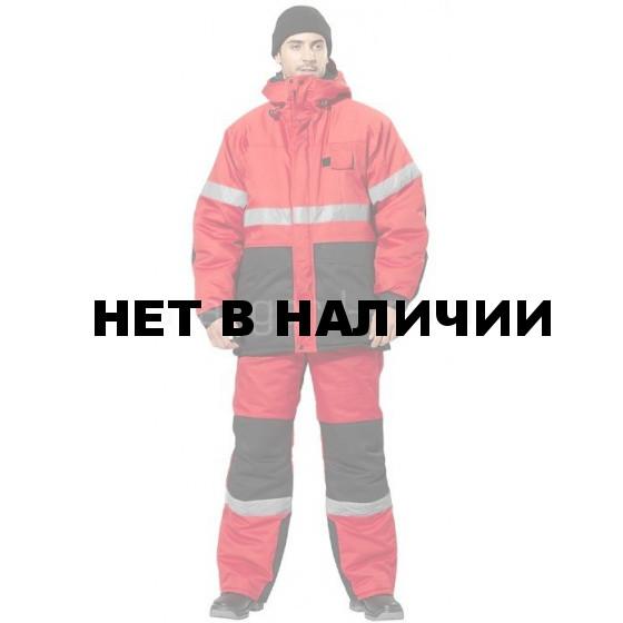 Костюм Норд-Вей утепленный (красный + черный)