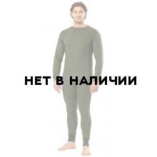 Белье нательное х/б трикотажное с начесом цвет темно-оливковый (Россия)