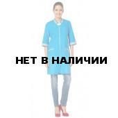 Халат женский Лазурит (цвет ярко-голуб. со св.серой отд.)