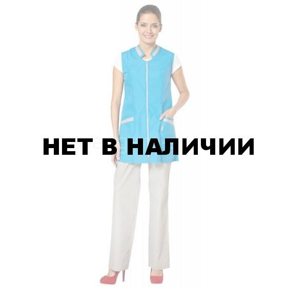 Сарафан Лазурит (цв. ярко-голуб. со св.серой отд.) (распродажа)
