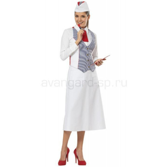 Комплект женский Круиз (жилет, фартук, пилотка, галстук)