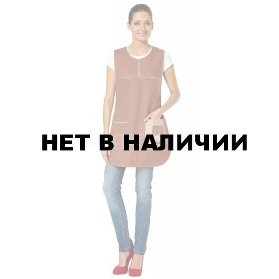 Фартук-сарафан Арабика (цв. коричневый + бежевый) (распродажа)