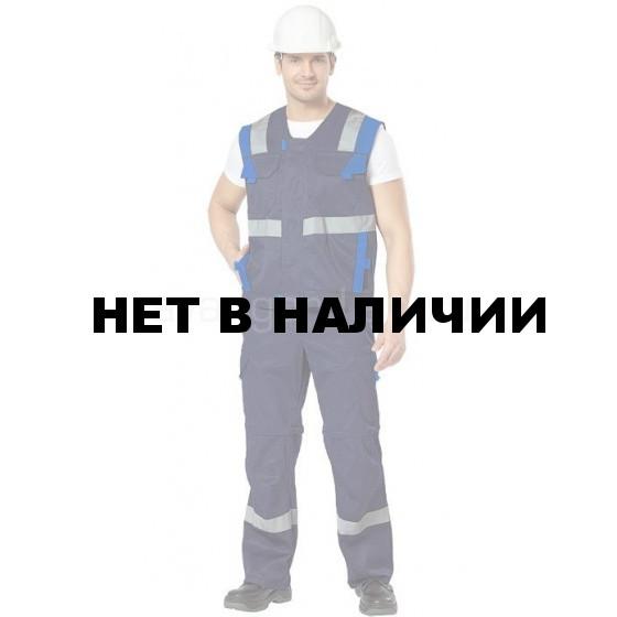 Комплект Логистик, ткань смесовая жилет+брюки-шорты (т.син+василек) РАСПРОДАЖА