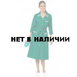 Халат женский Уют (цвет зеленый с белой отделкой) (распродажа)