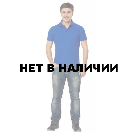 Рубашка-поло с манжетами, 200 г/м.кв., 100% хлопок (цв.василек)