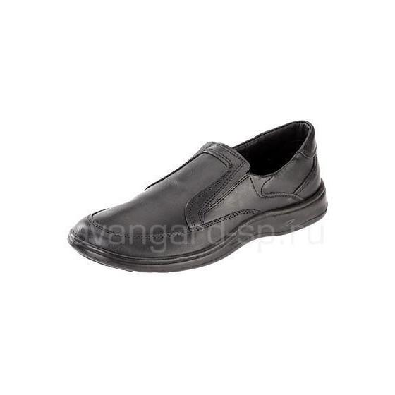 Туфли мужские, черные, резинка, ПУ