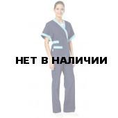Костюм женский Кимоно (цв. темно-синий + св.голубой)