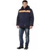 Куртка Бригада утепленная (темно-синяя+оранж.)