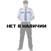 Рубашка охранника, короткий рукав, цвет голубой