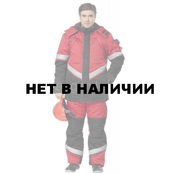 Костюм Каскад утепленный (ткань смесовая) красный+ черный