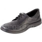 Туфли мужские, черные, шнурки, ПУ