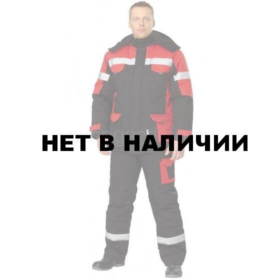Костюм Ойл Тэк утепленный (черный+красный)