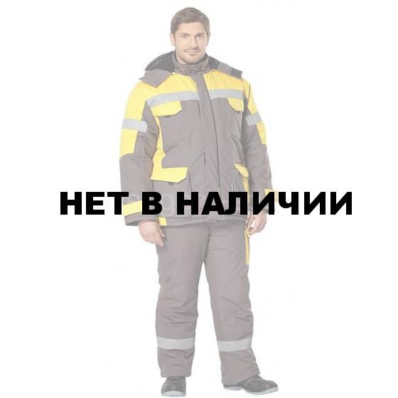 Костюм Ойл Тэк утепленный (серый+желтый)