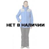 Куртка Ангара NEW утепленная женская (василек+серый)