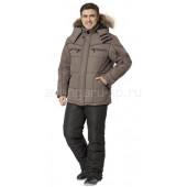 Куртка Базис утепленная цвет какао+коричневый