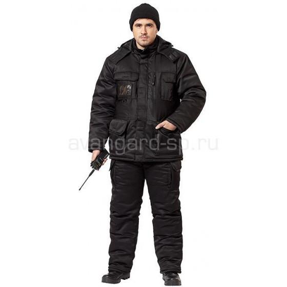 Костюм Витязь утепленный черный