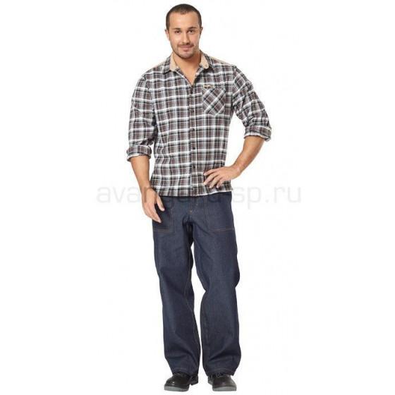 Рубашка мужская Вестерн (ткань клетка) РАСПРОДАЖА