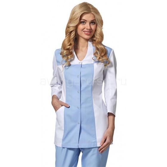 Блуза женская LL2102 (бел+гол)