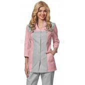 Блуза женская LL2103 (роз+сер)