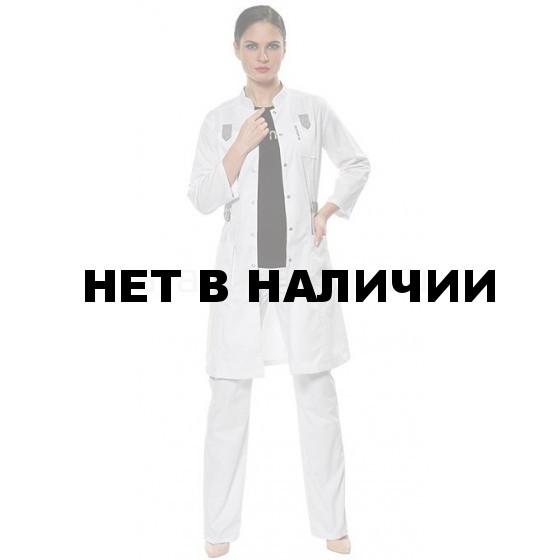 Халат женский LL1107 (бел-сер)