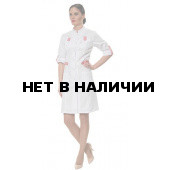 Халат женский LL1108 (бел-роз)