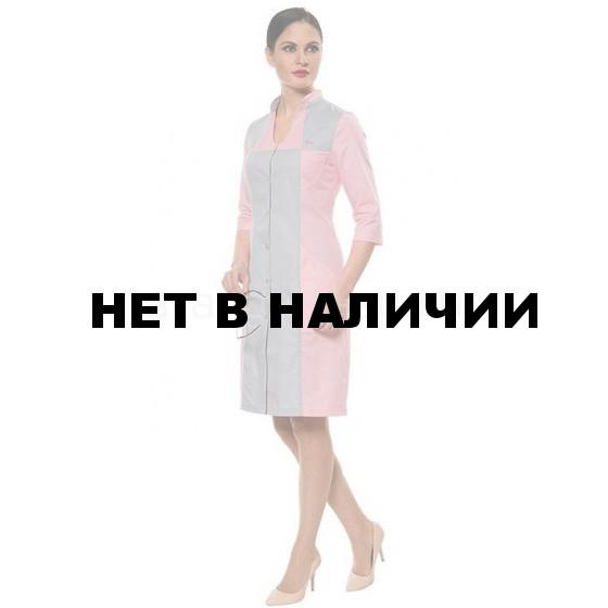 Халат женский LL1101 (роз-сер)