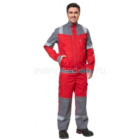 Куртка Карат NEW (красный+серый)
